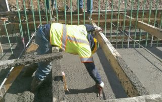 Man working with cement